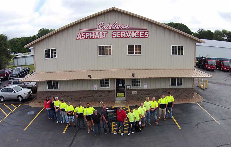 Team photo of Erickson Asphalt, the leading asphalt contractor in Minnesota